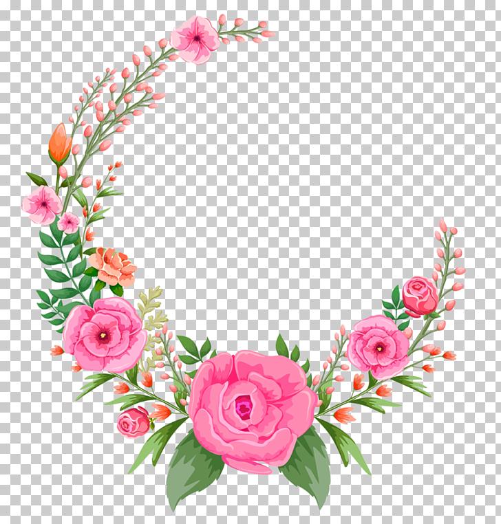 Flor rosa rosa, marco flores rosa, rosa y verde marco rosa.