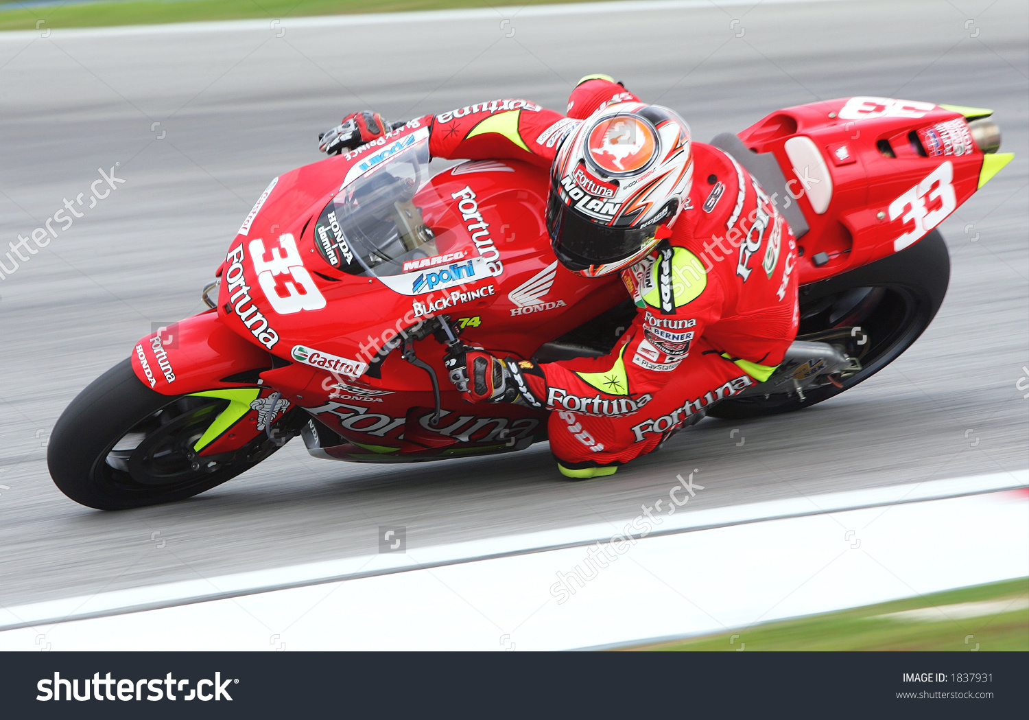 Italian Motogp Rider Marco Melandri Fortuna Stock Photo 1837931.