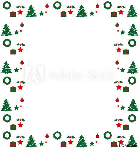 Marco de Navidad (Vector).