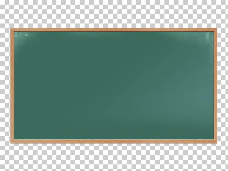 Pizarra verde con ilustración de marco de madera marrón.