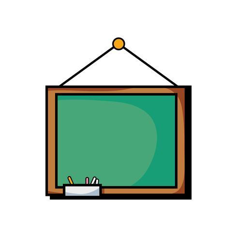 pizarra de la escuela con diseño de marco de madera.