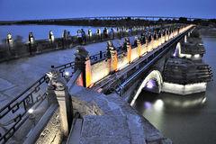 Ancient Lugou Bridge/Marco Polo Bridge, Beijing Stock Image.