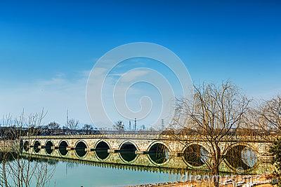 Marco Polo Bridge Wanping In Beijing Stock Photo.