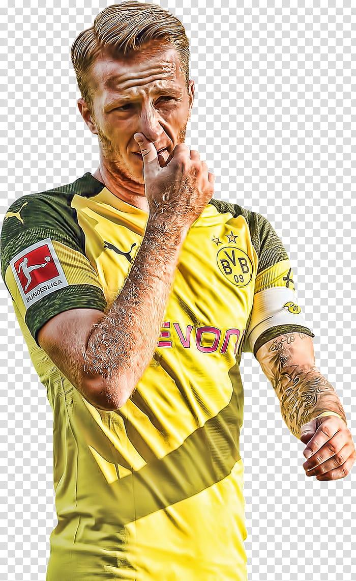 Marco Reus Topaz transparent background PNG clipart.