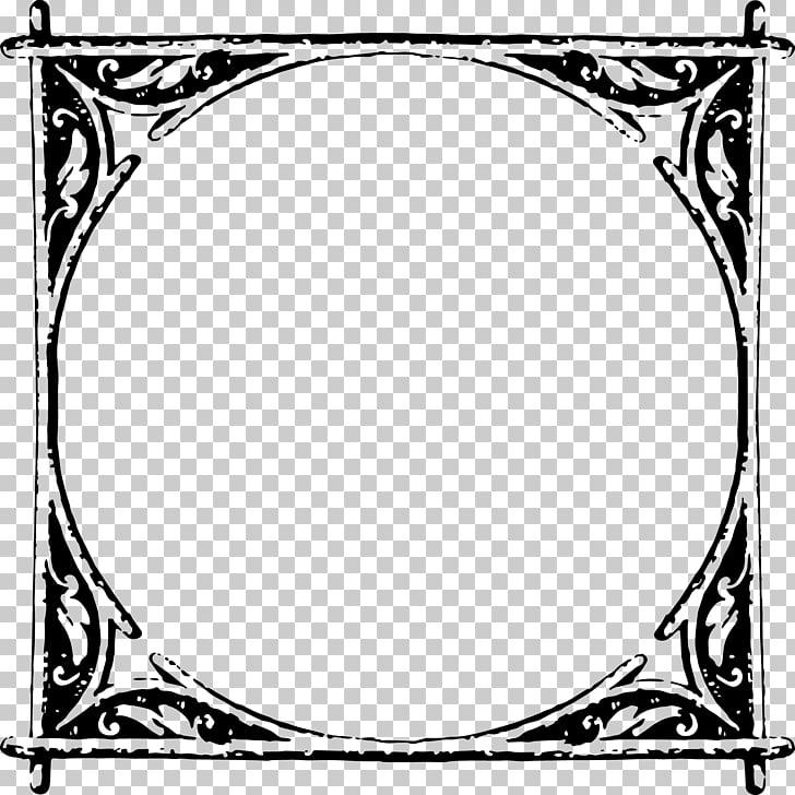 Cuadros de línea blanca patrón de arte, marco rústico. PNG.