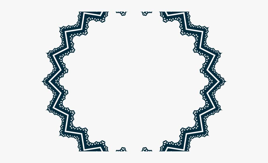 Vector Frame Clipart Scalloped Frame.