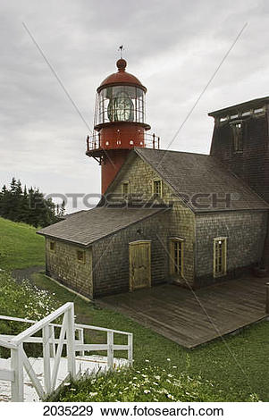 Stock Photograph of The Marconi Station And Lighthouse; Quebec.