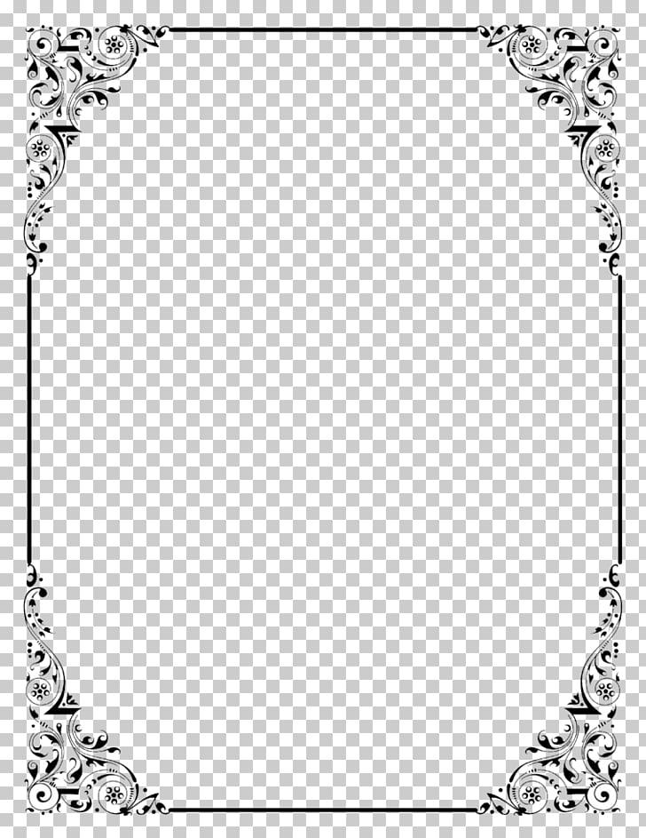 Ilustración de marco blanco y negro, bordes y marcos de.