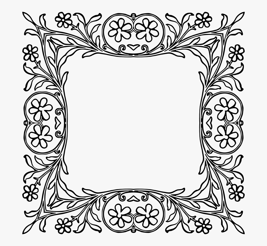 Banner Free Stock Fancy Black Frame Clipart.