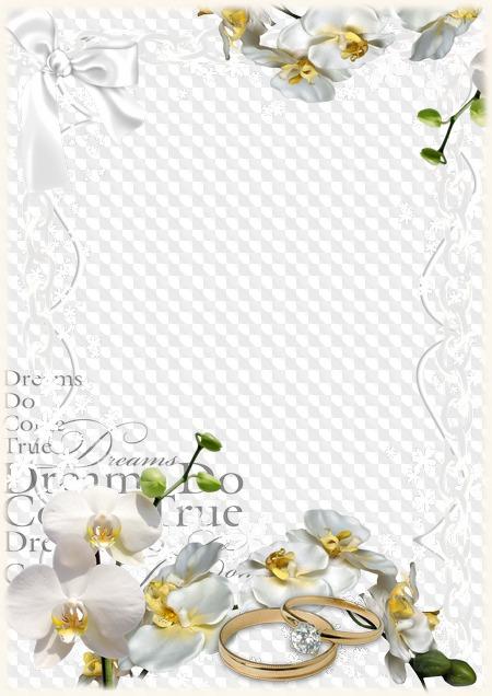 Marco de boda para Photoshop. Marco PNG transparente, PSD.