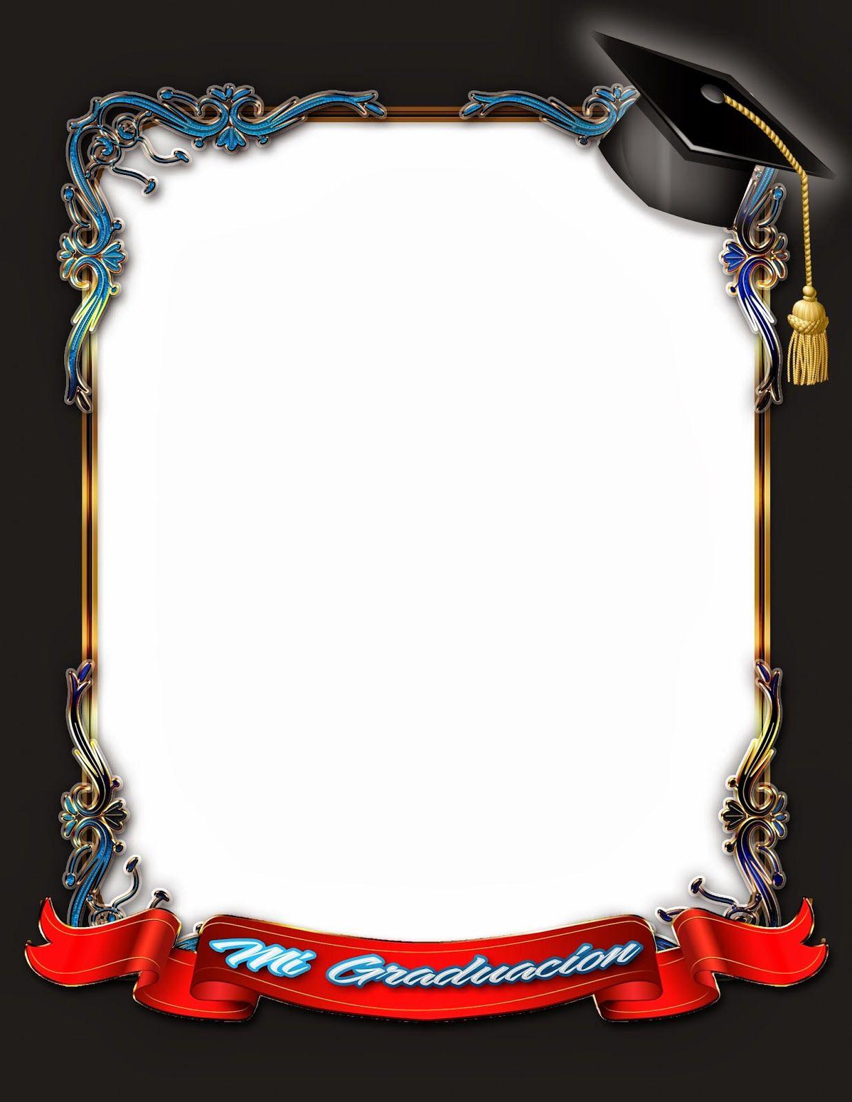 Elegante marco para fotos de graduación.