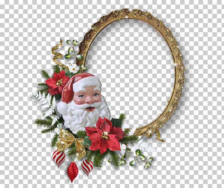 Marco de Navidad de santa claus, marcos de dibujos animados.