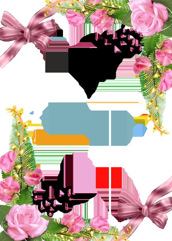 Pink Flower Frame clipart.