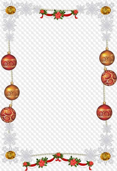 PSD, 8 PNG, marco de Navidad, imágenes prediseñadas con.