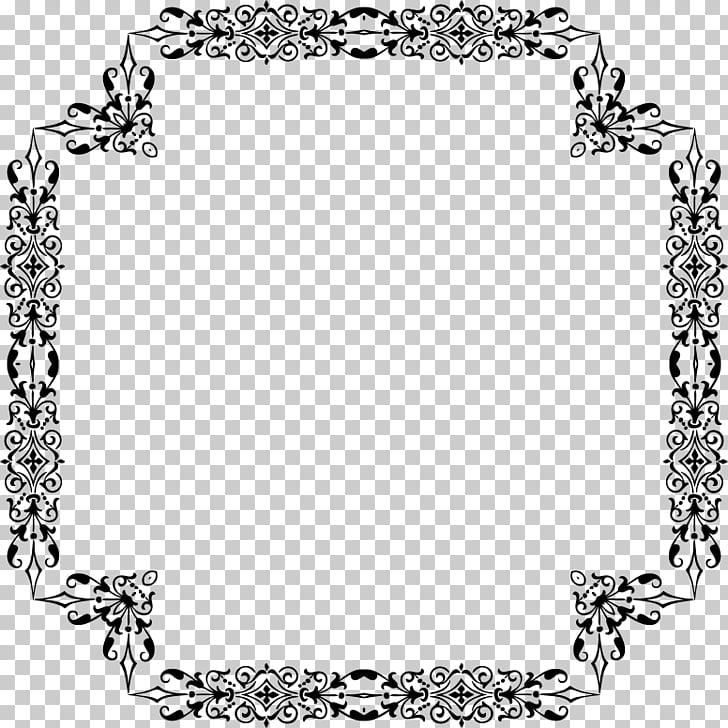 Marcos de bordes y marcos de plantas ornamentales en blanco.