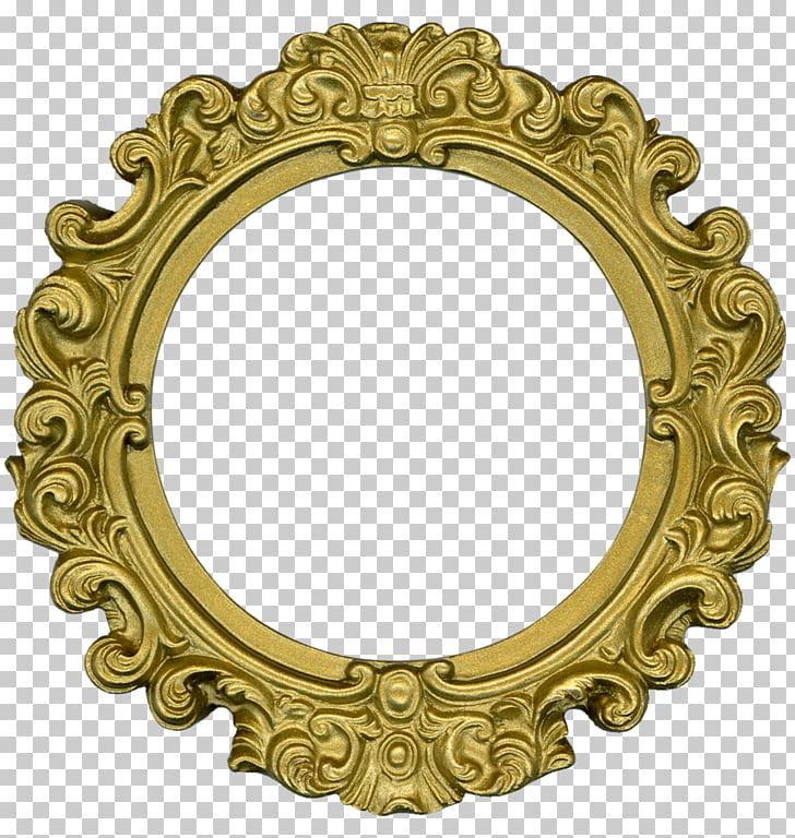 Marcos ornamentales artes decorativas, encaje dorado. PNG.