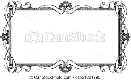 Diseño de marcos ornamentales. Diseño artístico de marcos.