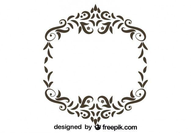 Marco ornamental con espacio para texto.