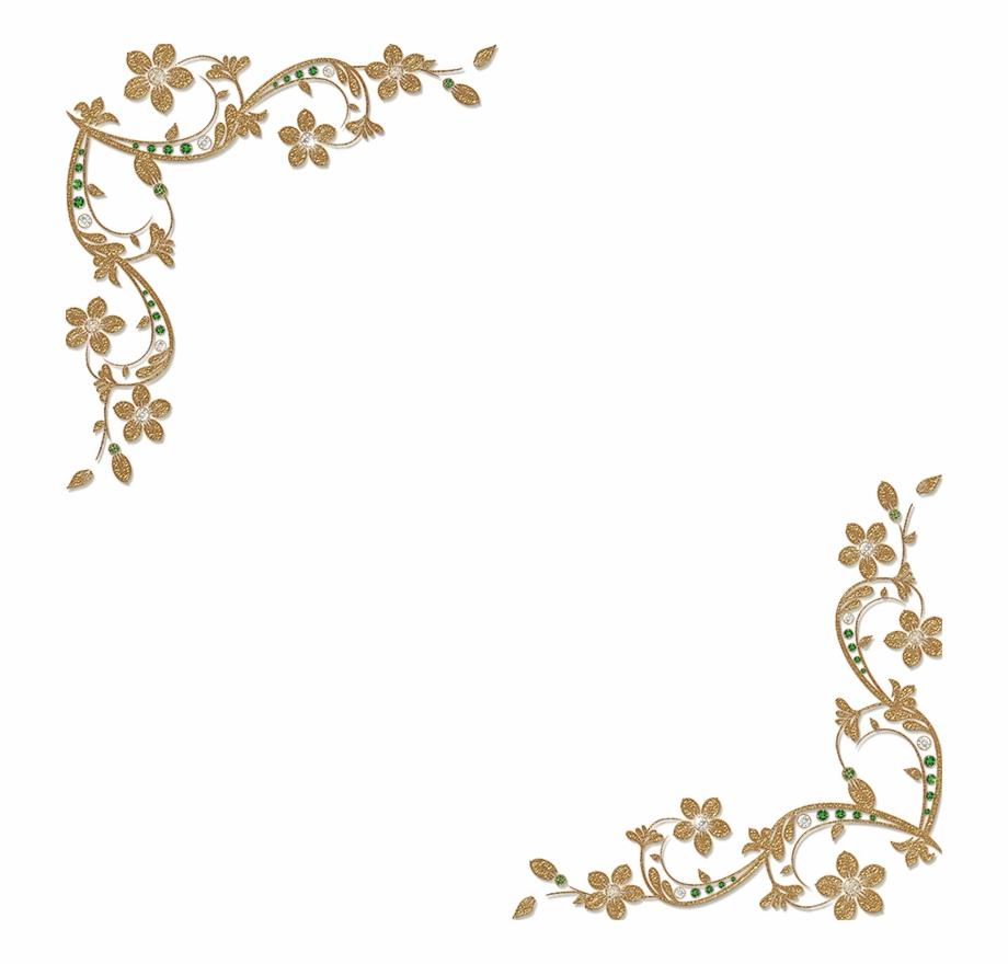 Golden Floral Corners Frame.