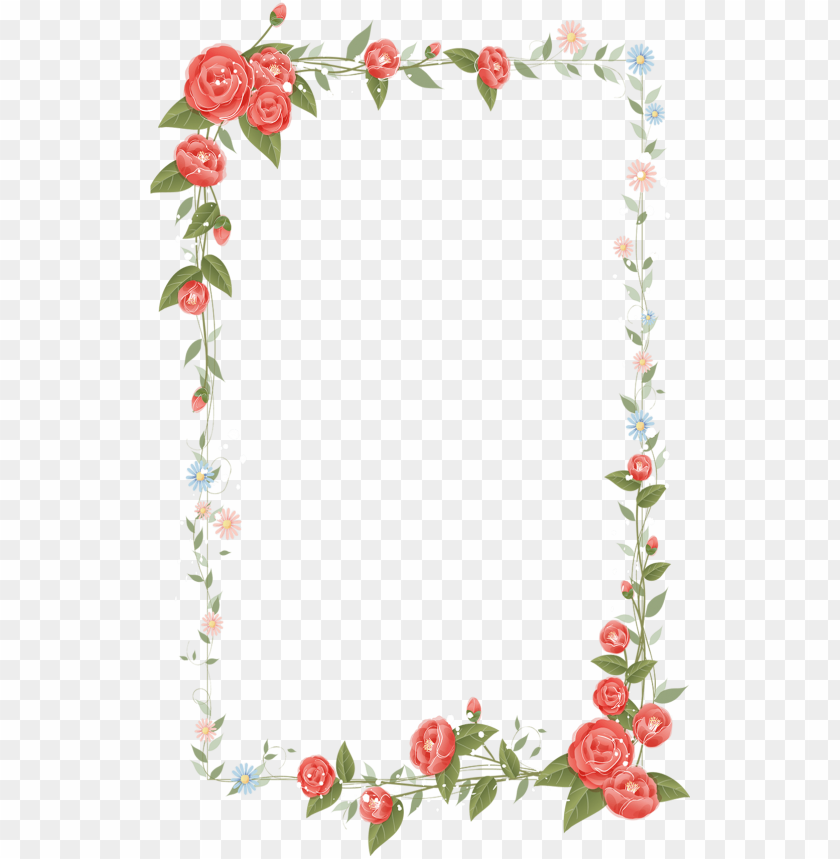 border flowers drawing clip art.