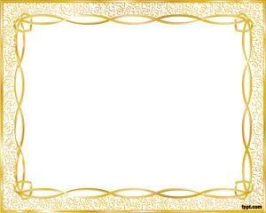Marco Dorado para PowerPoint es un diseño elegante de.