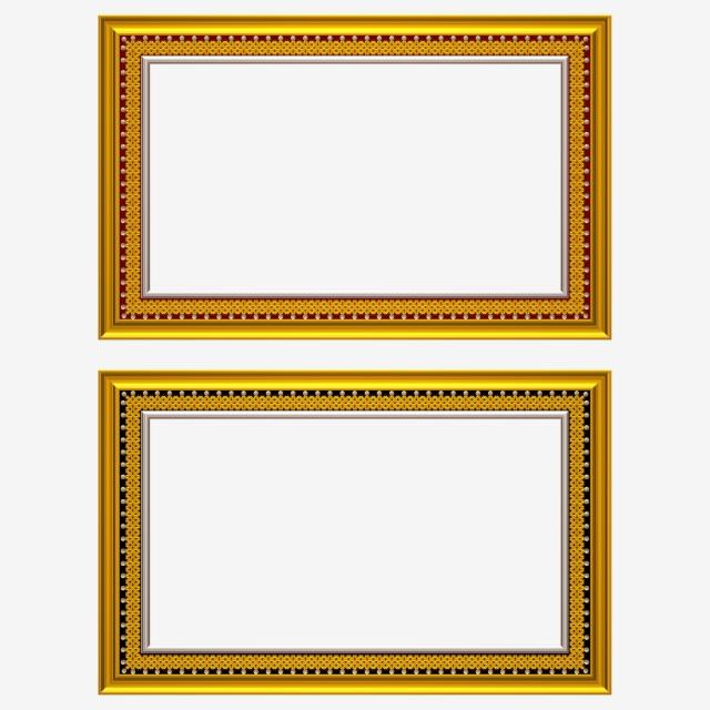 marcos para fotos elegantes dorados png #4