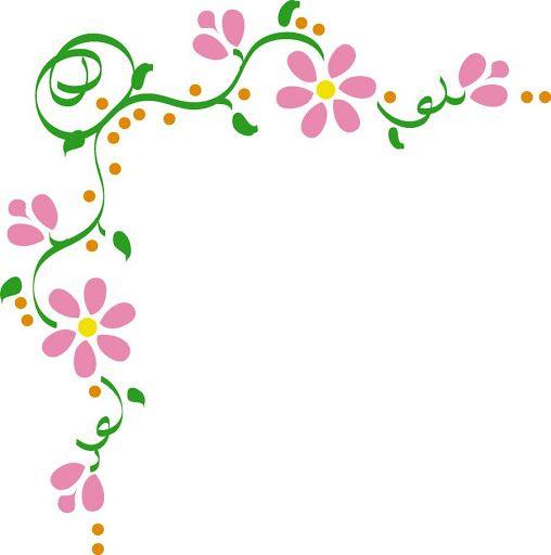 Bordes para tarjetas gratis con flores.