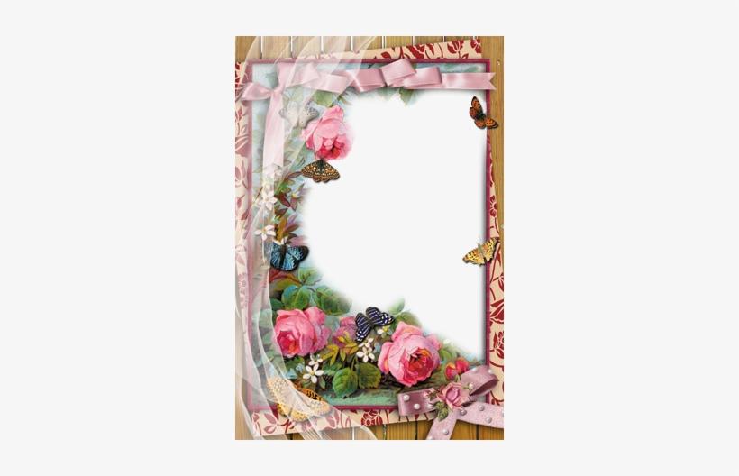 Rose Flower Design Border Png Marcos De Fotos.