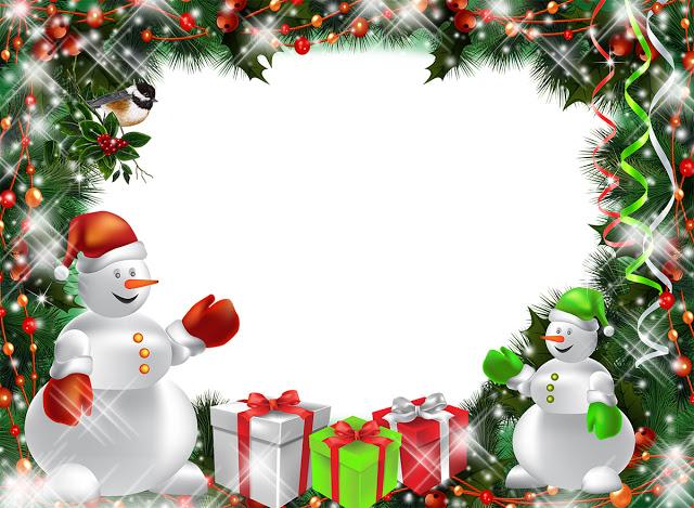 Marcos navideños para felicitar.