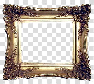 Marcos Vintage, gray frame transparent background PNG.