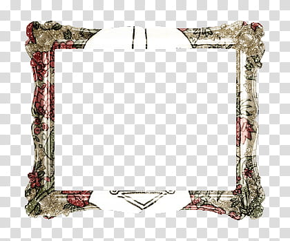 Marcos, rectangular red and gray frame transparent.
