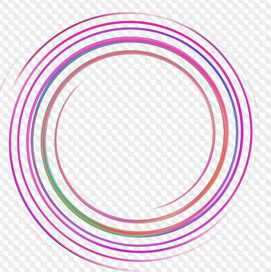 27 PNG Marcos redondos de colores, espirales, rizos para el.