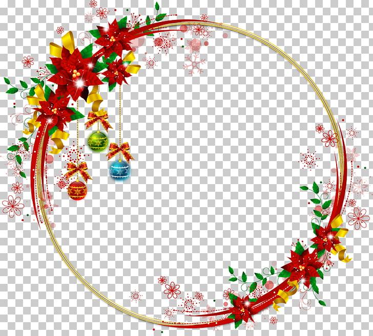 Bordes y marcos marcos de navidad, marco redondo PNG Clipart.