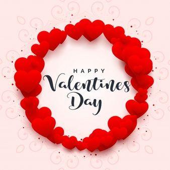 Marco de corazones para feliz dia de san valentin.