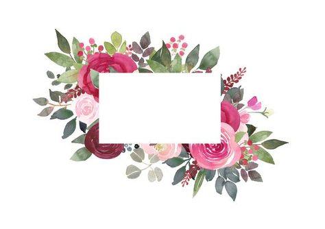 Acuarela Floral Clipart.