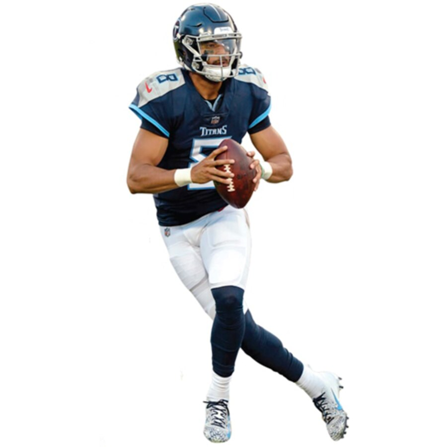 Fathead Marcus Mariota Tennessee Titans Life Size Removable Wall Decal.
