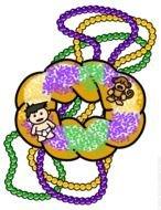Mardi Gras King Cake Baby Clip Art free image.