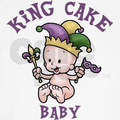 Mardi Gras King Cake Baby Clipart.