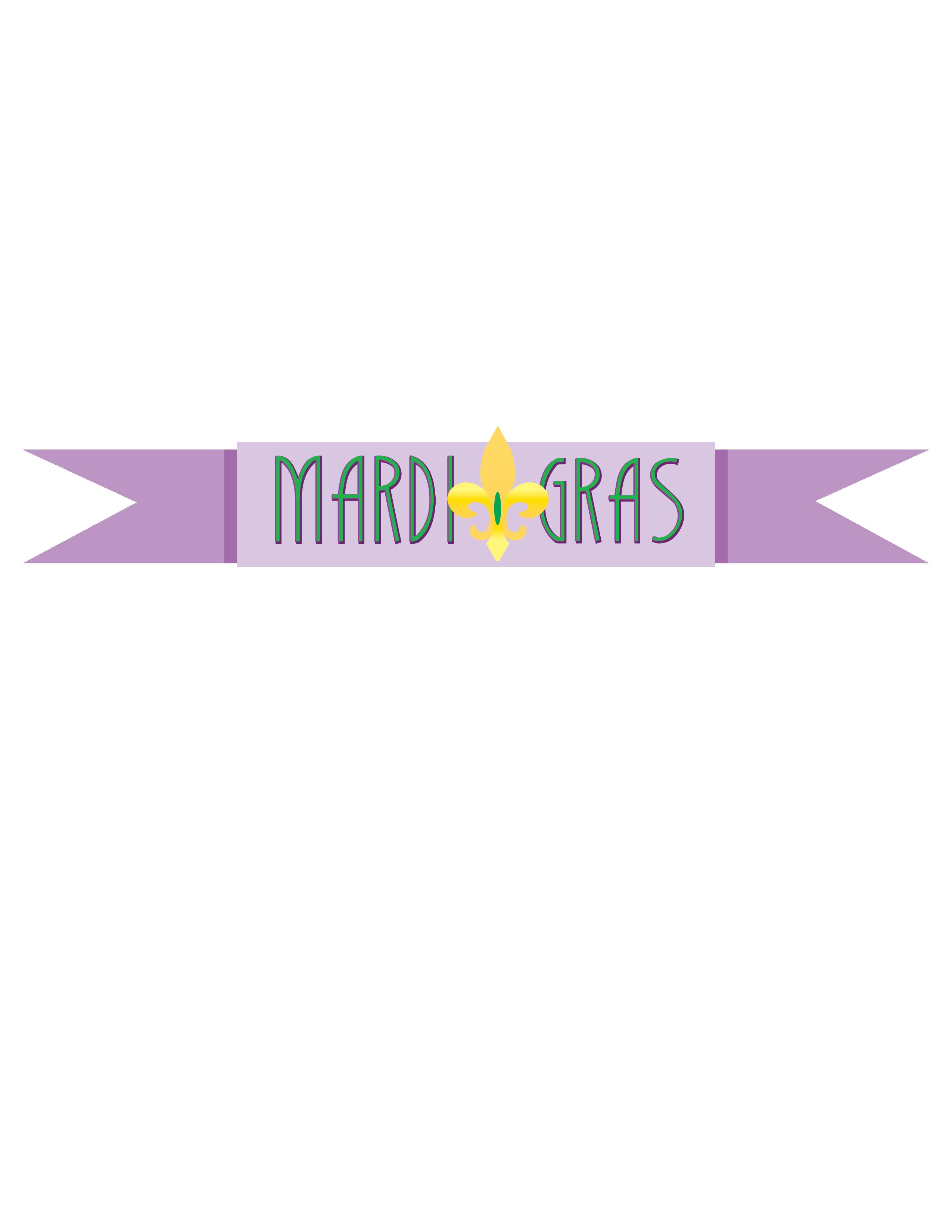 Mardi Gras Purple Banner Clip Art.