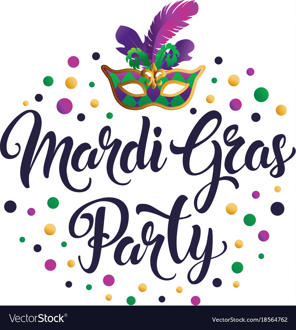 Mardi gras mask colorful poster banner template.