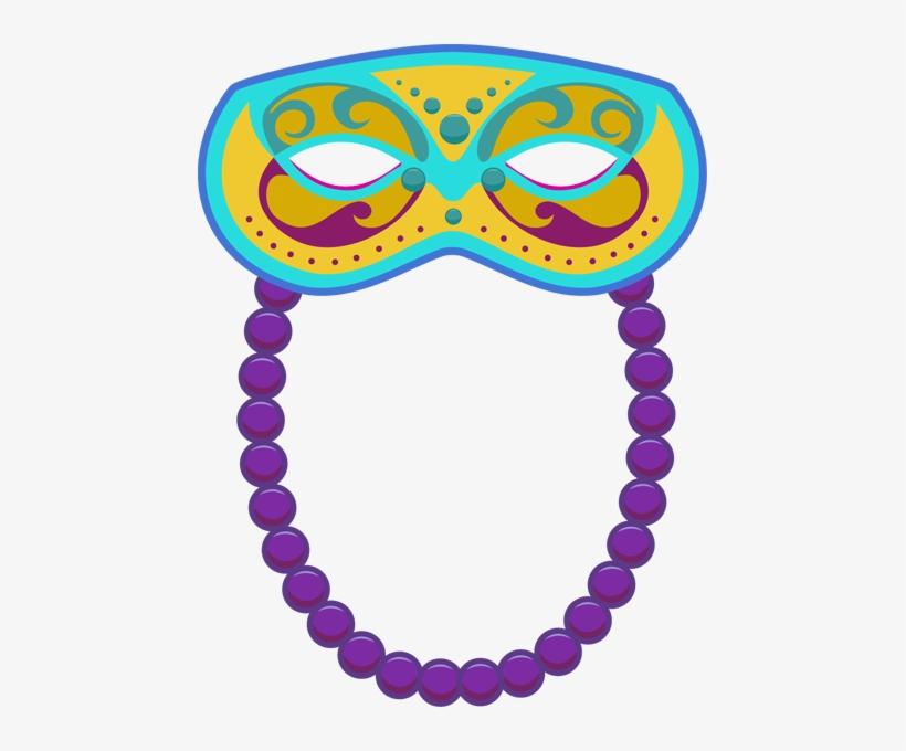 Mardi Gras Beads Clipart.