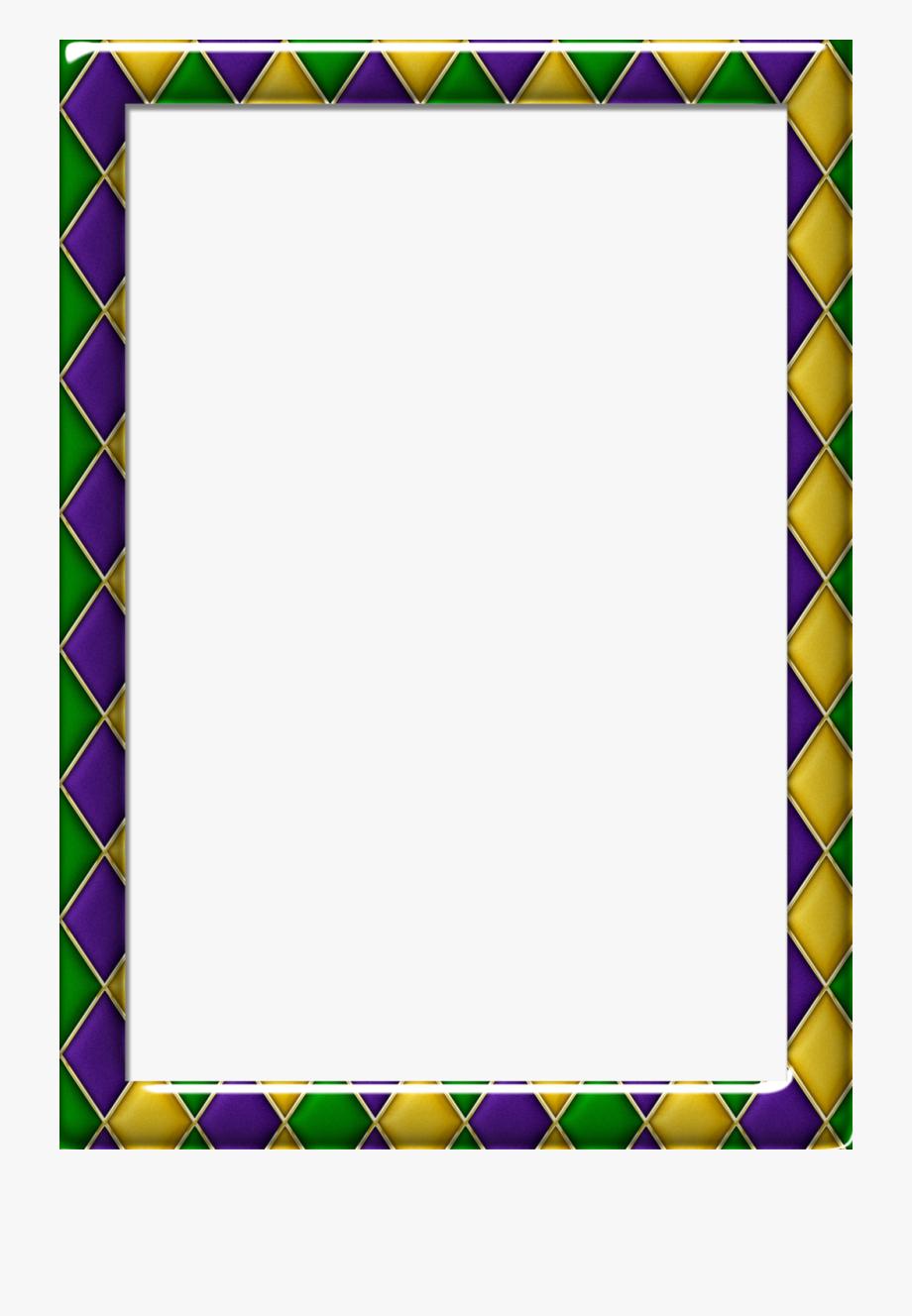 Pattern 1 Mardi Gras Frame.