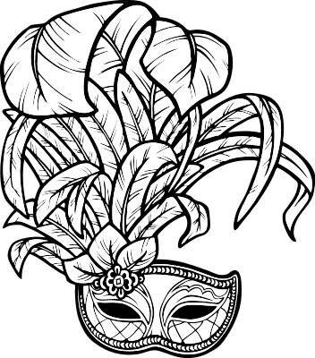 Mardi Gras Drawing.