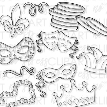 Mardi Gras Clip Art (Digital Use Ok!).