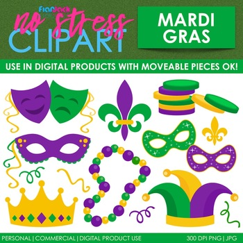 Mardi Gras Clip Art (Digital Use Ok!).