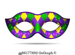 Mardi Gras Mask Clip Art.