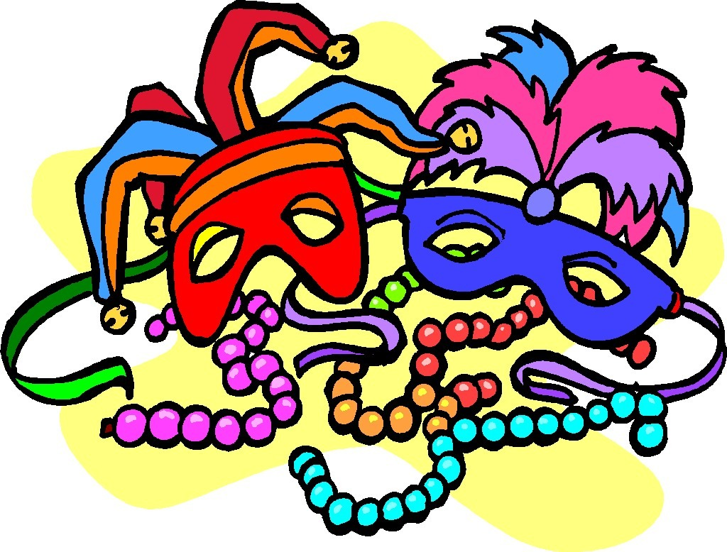 Free mardi gras clip art images.