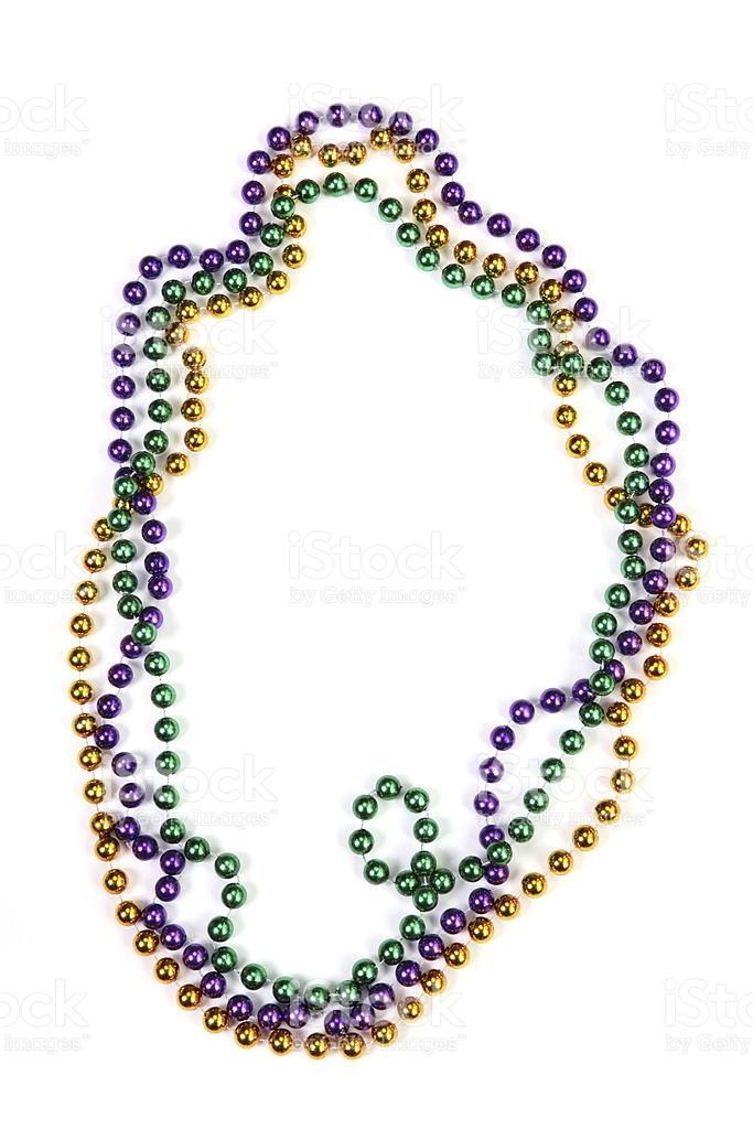 53 Mardi Gras Beads free clipart.