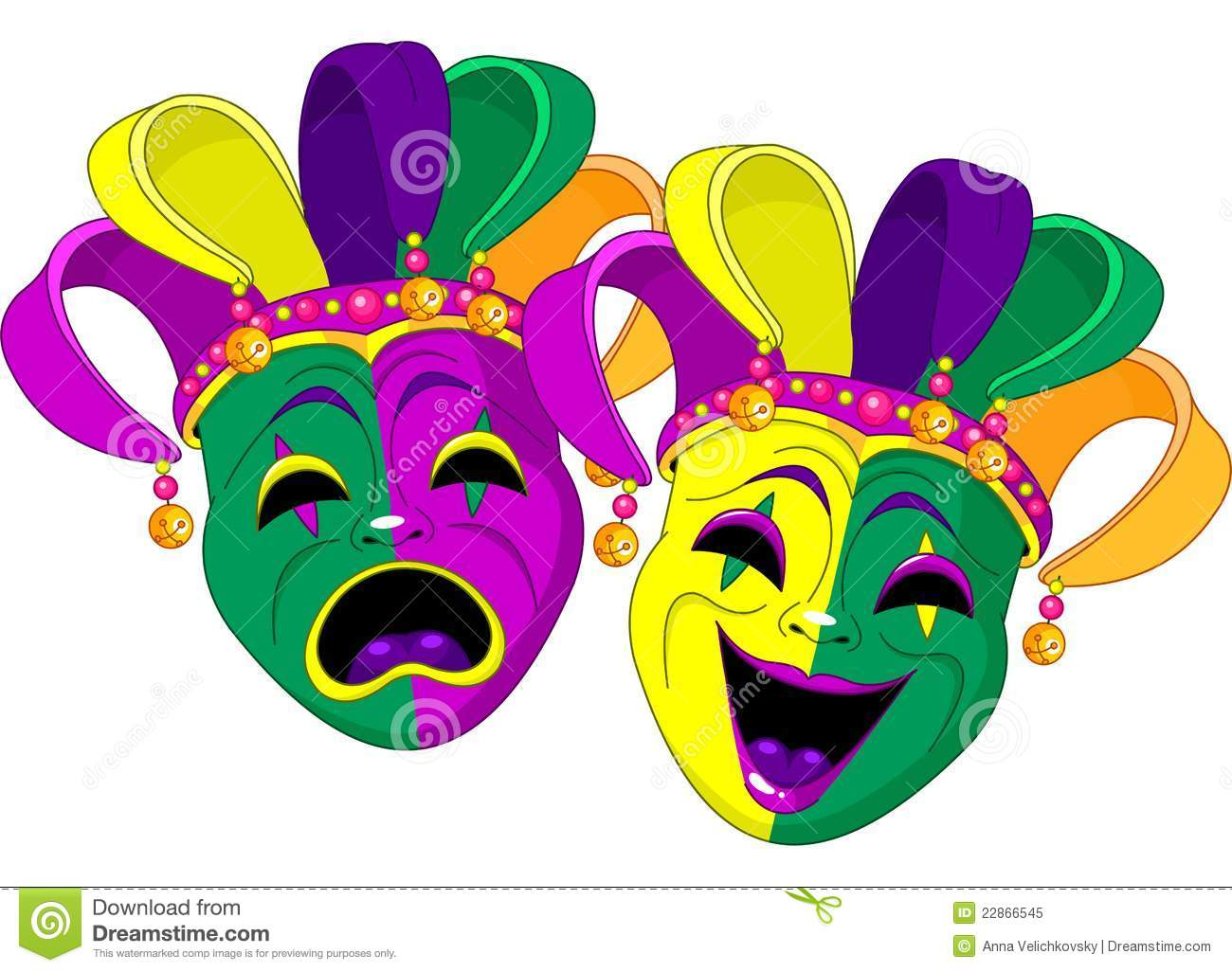 Mardi Gras King And Queen Clipart.