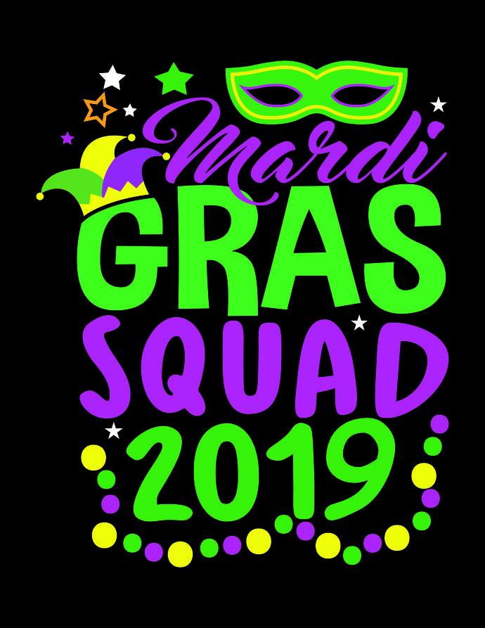 Mardi Gras SVG files, Mardi Gras Monogram, Mardi Gras.
